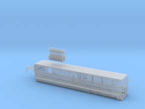 1/64 36' Cattle Trailer Bar Style  in Smooth Fine Detail Plastic