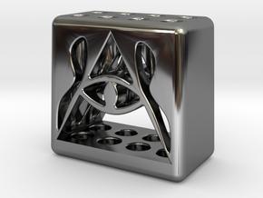 Illuminati 8 Pen Holder in Fine Detail Polished Silver