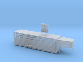 1/64 28' Cattle Trailer Slat Style (door on left s in Smooth Fine Detail Plastic