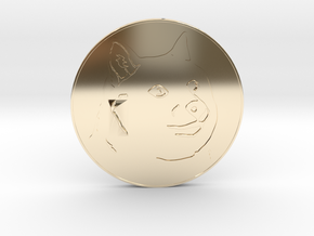 Dogecoin in 14K Yellow Gold