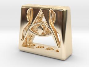 Illuminati 4 Pen Holder in 14k Gold Plated Brass