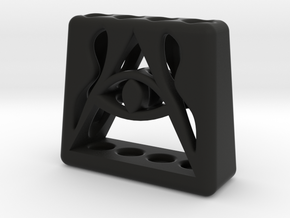 Illuminati 4 Pen Holder in Black Natural Versatile Plastic