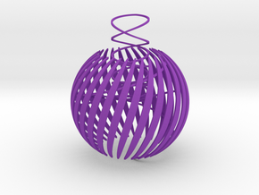 Semi-open christmas ball thin in Purple Strong & Flexible Polished
