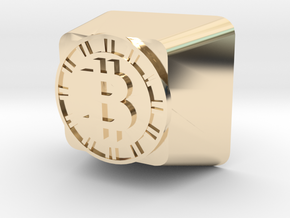 Bitcoin Cherry MX Keycap in 14k Gold Plated Brass