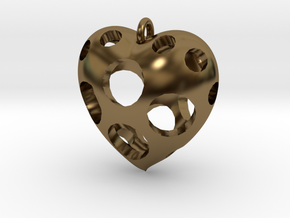 Heart Pendant #3 in Polished Bronze
