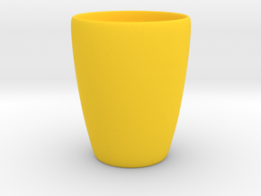Coffee mug #1 - Inner ear in Yellow Processed Versatile Plastic