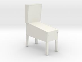 Pinball Machine - HO 87:1 Scale in White Natural Versatile Plastic