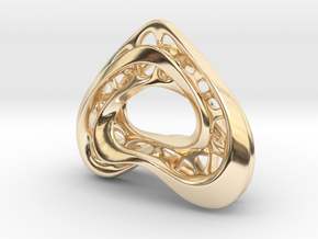 LoveHeart RoyalModel in 14k Gold Plated Brass