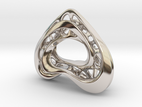 LoveHeart RoyalModel in Rhodium Plated Brass