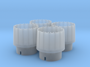 WING-X REBELL 1/29 EASYKIT ENGINE NOZZLES  in Smooth Fine Detail Plastic