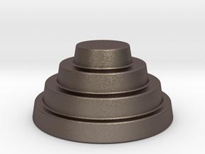 Devo Hat  78mm miniature / NOT LIFE SIZE! in Polished Bronzed Silver Steel
