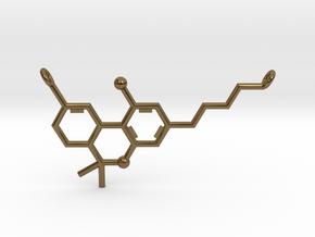 THC (Tetrahydrocannabinol) Pendant in Polished Bronze