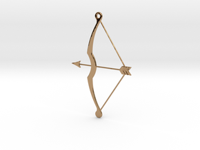 Bow & Arrow Pendant in Polished Brass