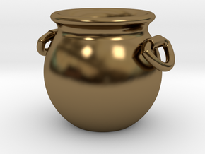 Cauldron Miniature in Polished Bronze