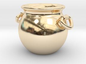 Cauldron Miniature in 14k Gold Plated Brass