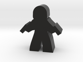 Assassin Agent Hero Meeple, with Pistols in Black Strong & Flexible