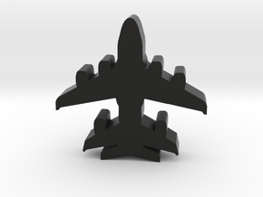 Game Piece, Agents Air Transport in Black Natural Versatile Plastic