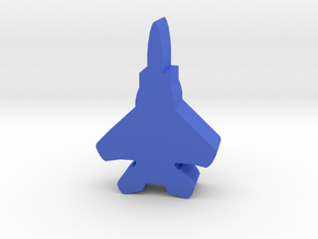 Game Piece, Blue Force, Eagle Fighter in Blue Processed Versatile Plastic