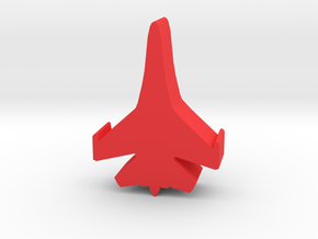 Game Piece, Red Force, Flanker Fighter in Red Processed Versatile Plastic