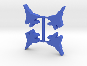 Game Piece, Blue Force Eagle Fighter 4-set in Blue Strong & Flexible Polished