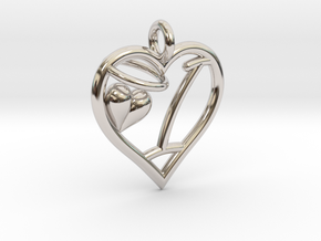 HEART I in Platinum