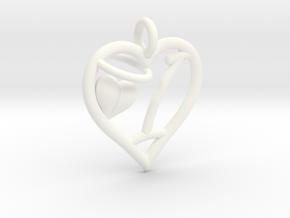 HEART I in White Processed Versatile Plastic