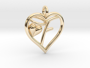 HEART F in 14K Yellow Gold