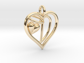 HEART D in 14K Yellow Gold