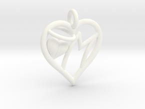 HEART M in White Processed Versatile Plastic