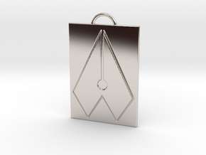 Axial Works™ Symbol: Full Keychain in Platinum