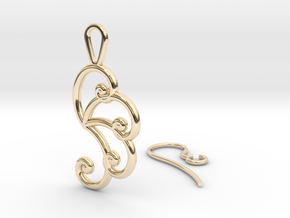Fibonacci Earring 4 in 14K Yellow Gold