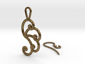 Fibonacci Earring 4 in Polished Bronze