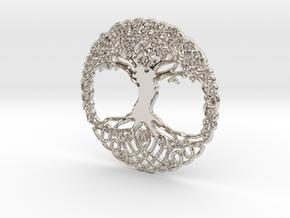 Tree Of Life Pendent  in Platinum