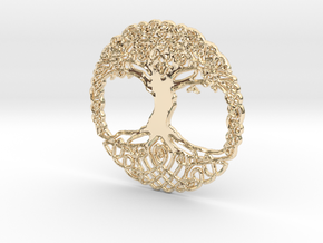 Tree Of Life Pendent  in 14k Gold Plated Brass