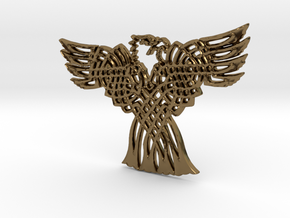 Eagle Pendant in Polished Bronze