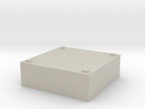 Stackable Storage Base in Natural Sandstone