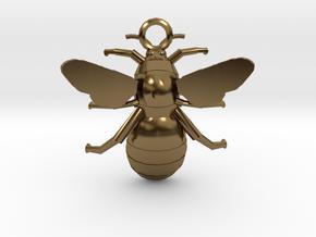 Bumblebee Pendant in Polished Bronze