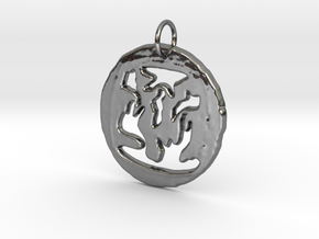 Pendant in Fine Detail Polished Silver