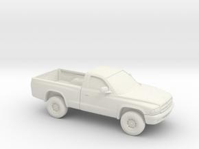 1/87 1997-04 Dodge Dakota Regular Cab in White Natural Versatile Plastic