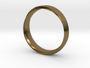 Mobius Ring with Groove Size US 9.75 in Polished Bronze