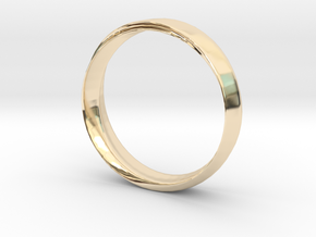 Mobius Ring with Groove Size US 9.75 in 14k Gold Plated Brass