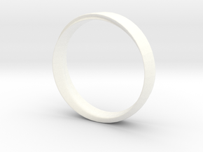 Mobius Ring with Groove Size US 9.75 in White Processed Versatile Plastic