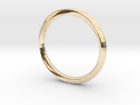 Mobius Ring Plain Size US 3.75 in 14k Gold Plated Brass