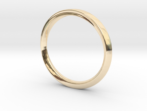 Mobius Ring with Groove Size US 3.75 in 14k Gold Plated Brass