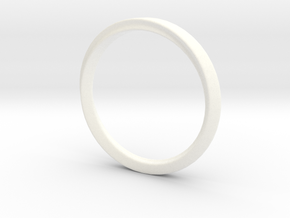 Mobius Ring with Groove Size US 3.75 in White Processed Versatile Plastic