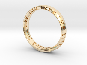 Live The Life You Love - Mobius Ring V2 in 14K Yellow Gold