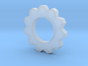 Small Cog Pendant  in Smooth Fine Detail Plastic