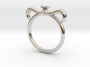 Petal Ring Size 6.5 in Platinum