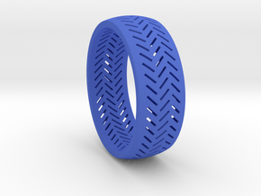 Herringbone Ring Size 6 in Blue Processed Versatile Plastic