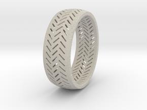 Herringbone Ring Size 7.5 in Natural Sandstone